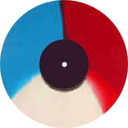 3種類の色を放射状に均等に配置した模様